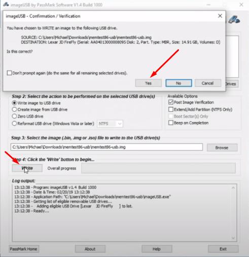 Burn MemTest86 to Flashdrive 2 - pcfied.com