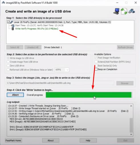 Burn MemTest86 to Flashdrive 4 - pcfied.com