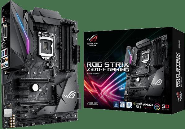 Best Gaming Motherboard for i7 8700K - ASUS ROG Strix Z370 F