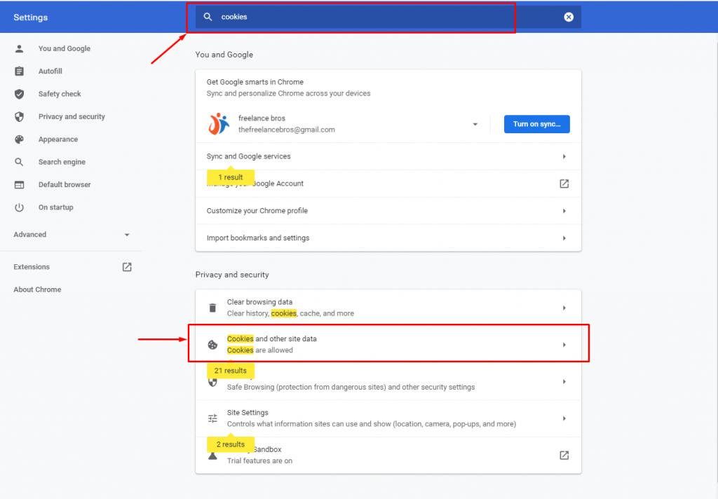 Shortcut to Enabling Google Chrome Cookies